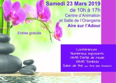 SALON du Bien Être et du Bio à Aire sur Adour le 23 mars 2019