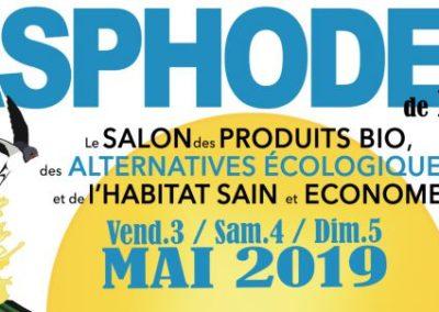 Salon bio Asphodèle de Printemps à Pau les 3, 4 et 5 Mai 2019